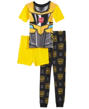 Transformers Bumblebee Kid Fancy Outfit Set T-Shirt+Shorts #035 Size S age 2-3