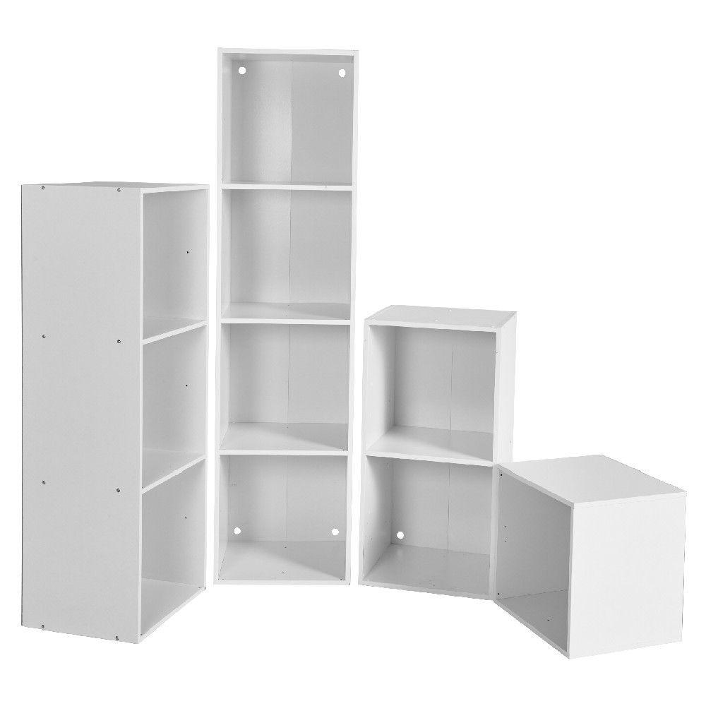 Structure A Composer 1 Case Blanc Meuble Gifi Meuble Mobilier De Salon