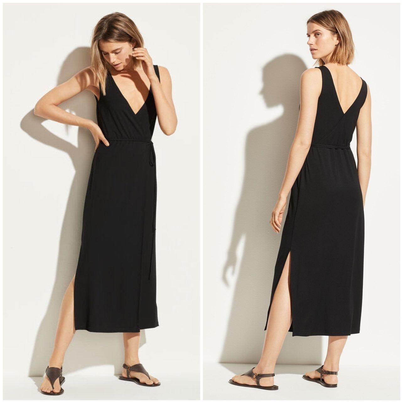 Vince V Neck Sleeveless Wrap Dress Mercari In 2021 Sleeveless Wrap Dress Wrap Dress Beautiful Blouses [ 1284 x 1284 Pixel ]