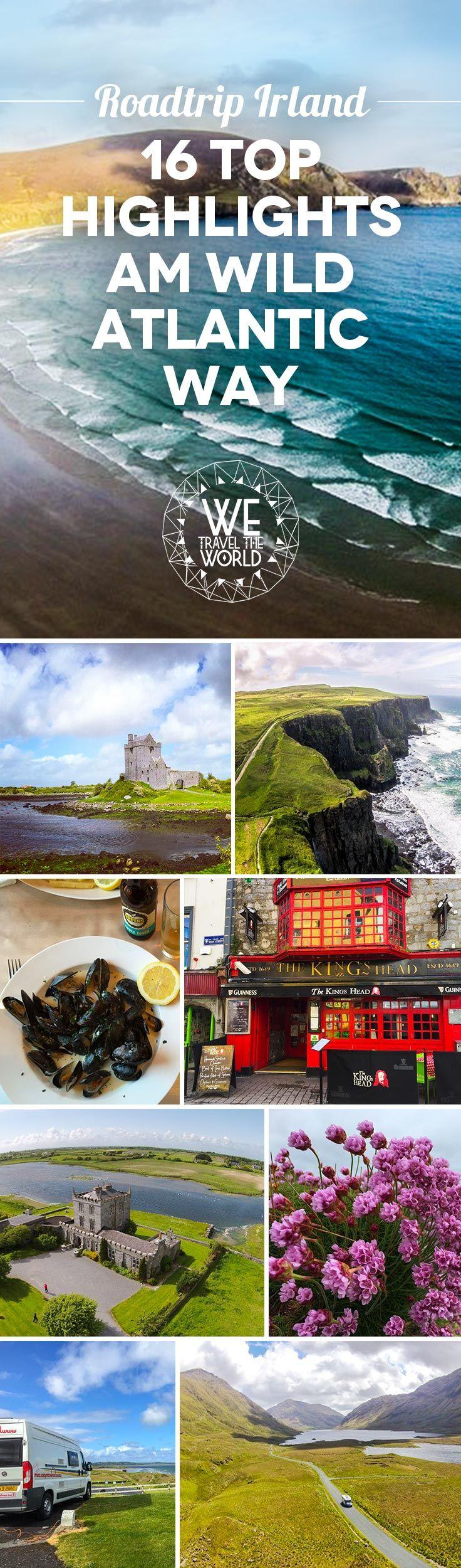 Road Trip Wild Atlantic Way: 16 puntos destacados a lo largo de la espectacular carretera costera de Irlanda hacia los acantilados de Moher