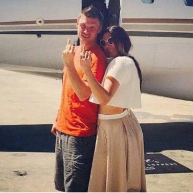 The happy couple! @nickcarter @laurenkitt #MrAndMrsCarter #NickCarter #LaurenKitt #Padgram