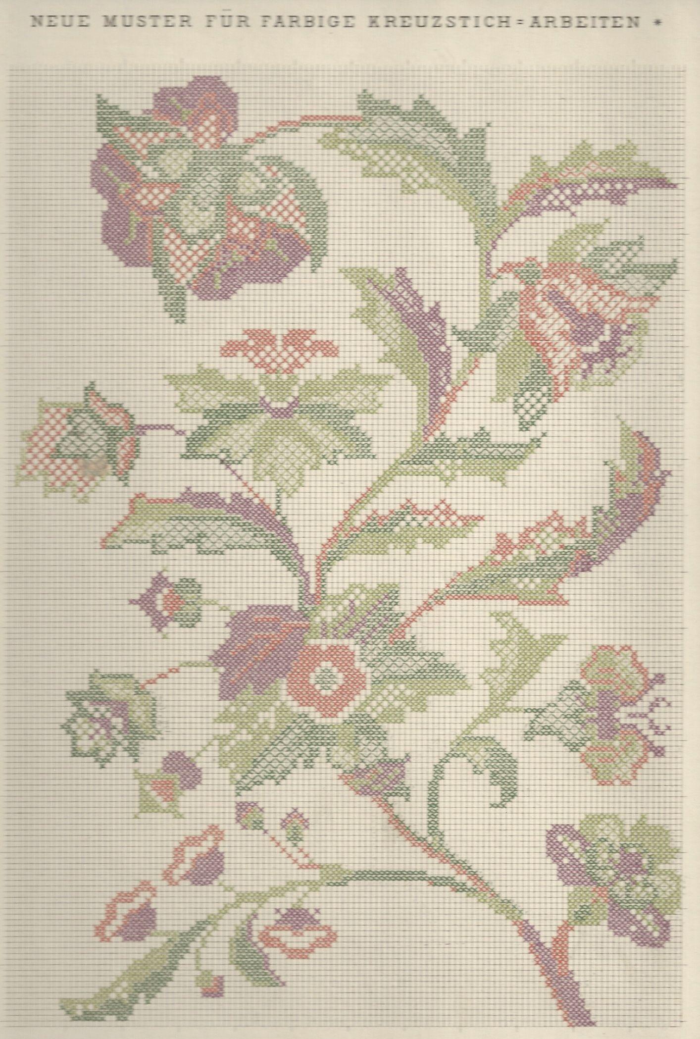 1 / Blatt 9 - Neue Muster-Vorlagen Fur Farbige Kreuzstich-Arbeiten - A. Scheffers - Published by J. M. Gebhardt's Verlag, Leopold Gebhardt, 1887