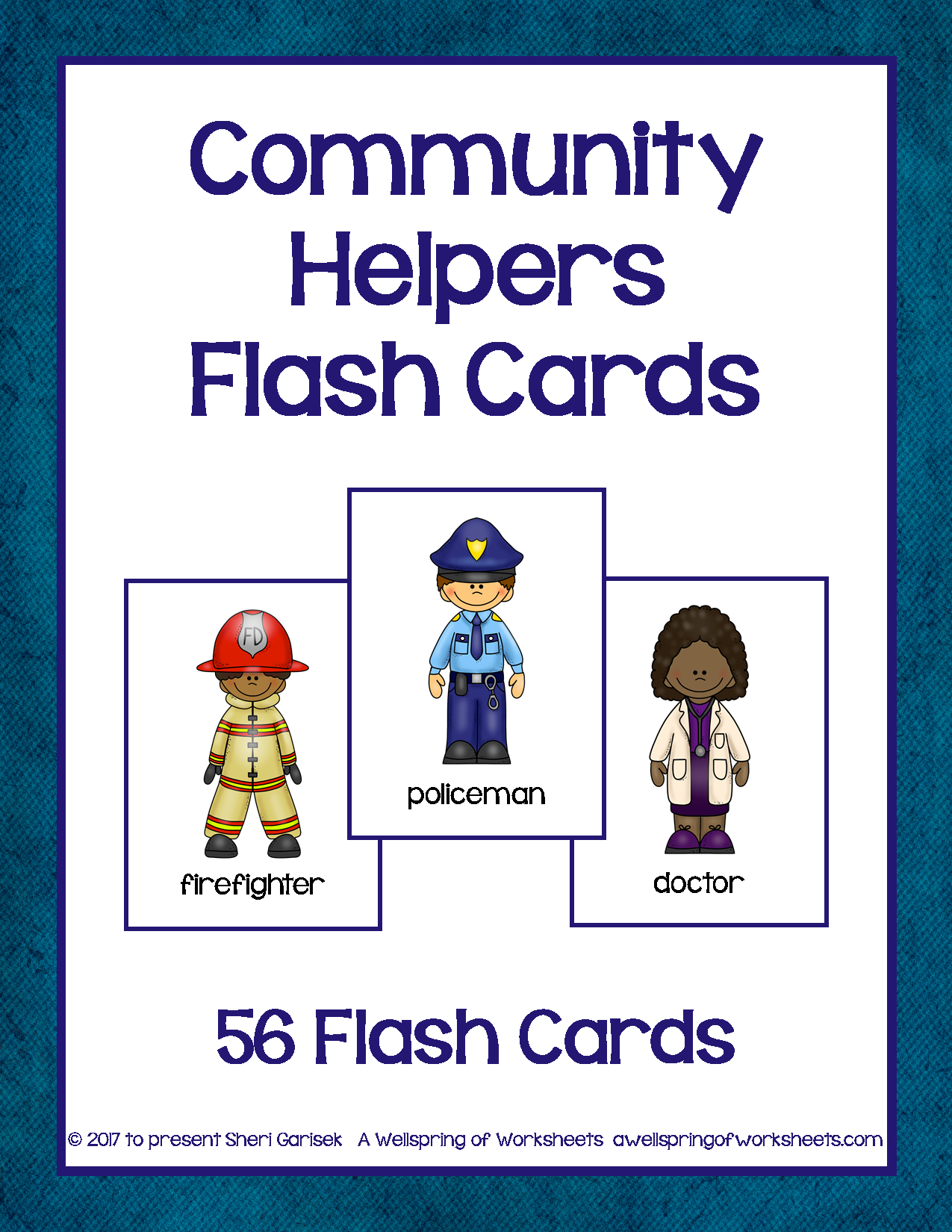 Community Helpers Flash Cards These 56 Community Helpers