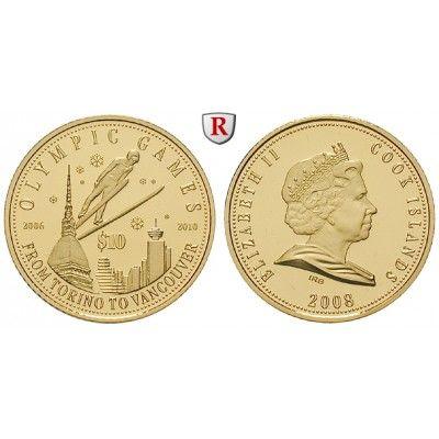 Cook Inseln, Elizabeth II., 10 Dollars 2007, 4,54 g fein, PP: Elizabeth II. seit 1952. 10 Dollars 25 mm 4,54 g fein, 2007.… #coins