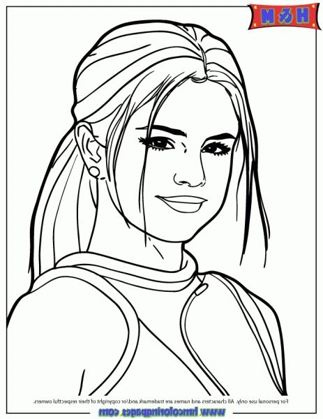 The Best selena gomez coloring pages httpcoloringalifiahbiz