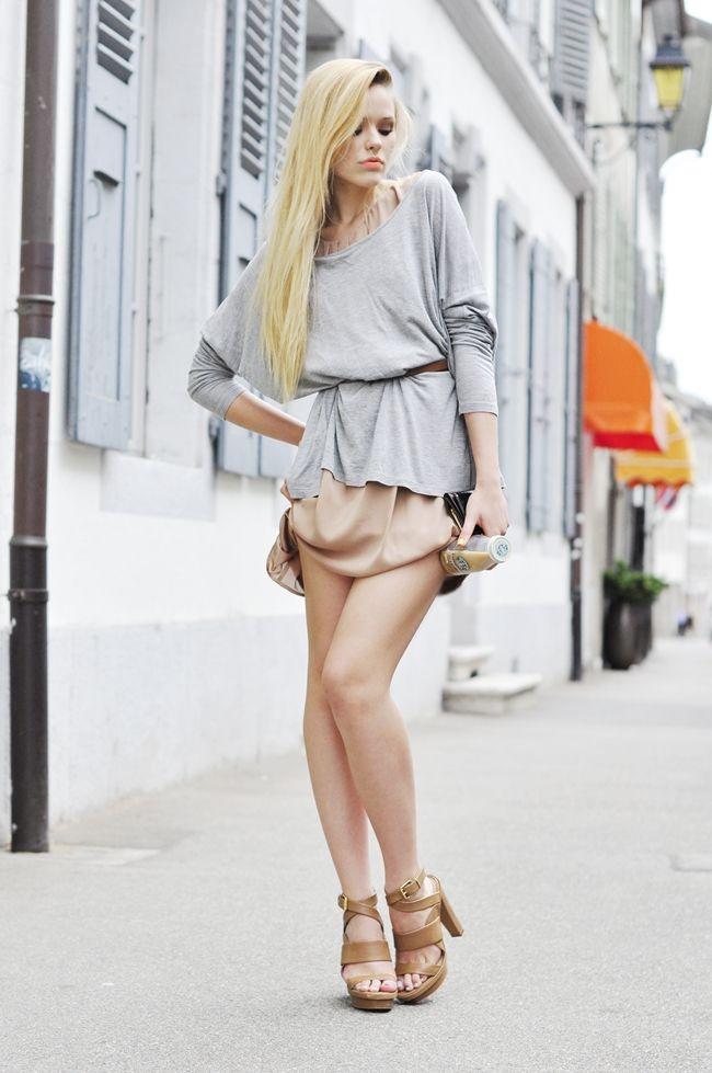 light sweater over dress
