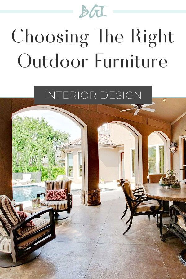 Outfitting the Outdoors: Amazing Aluminum #outdoorfurniture #designtips