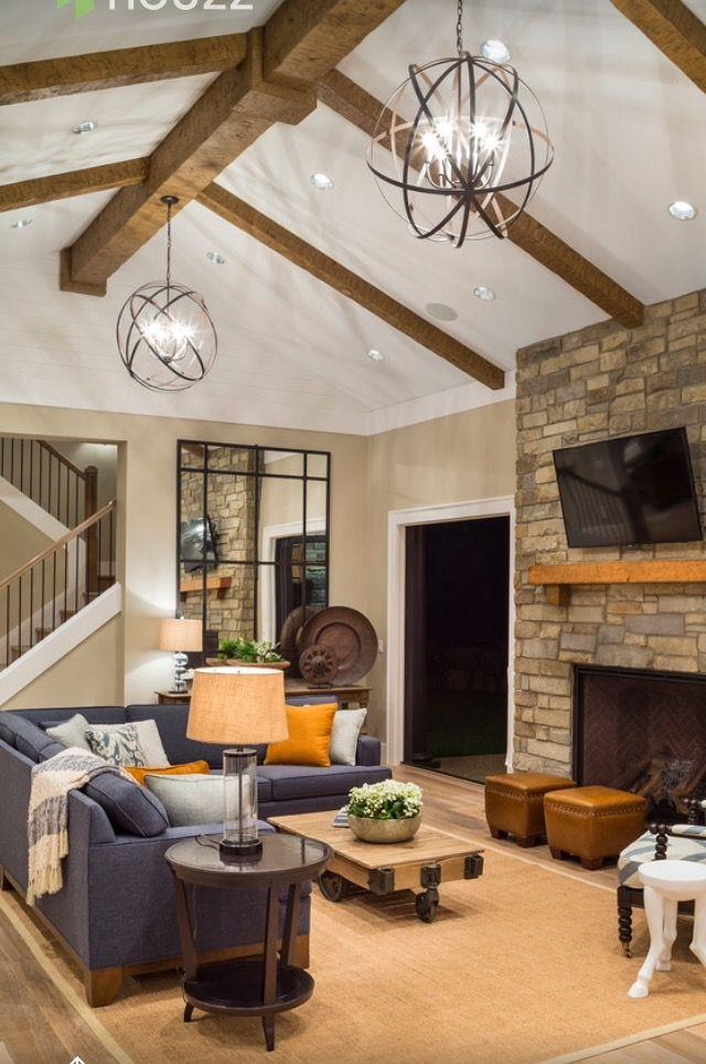 pin by aisha watson on decor rustic family room on extraordinary living room ideas with lighting id=30567