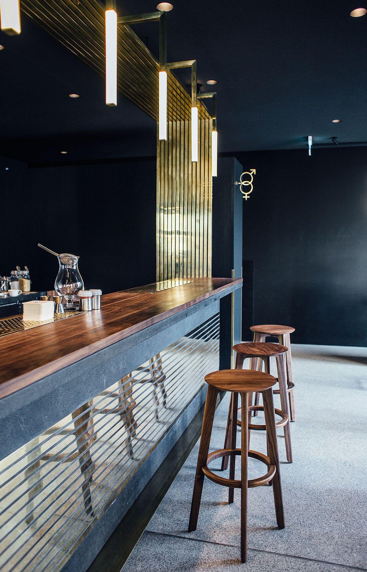 midcentury timeless touches dramatically frame the modern bar in munich - Midcentury Restaurant Interior