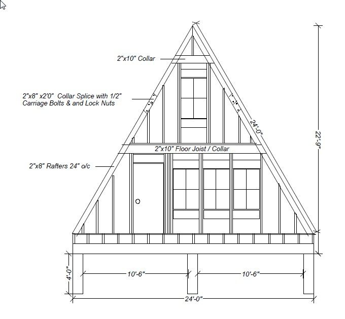 Our A-Frame Cabin: A-Frame Elevations and Sketches | House Design in ...
