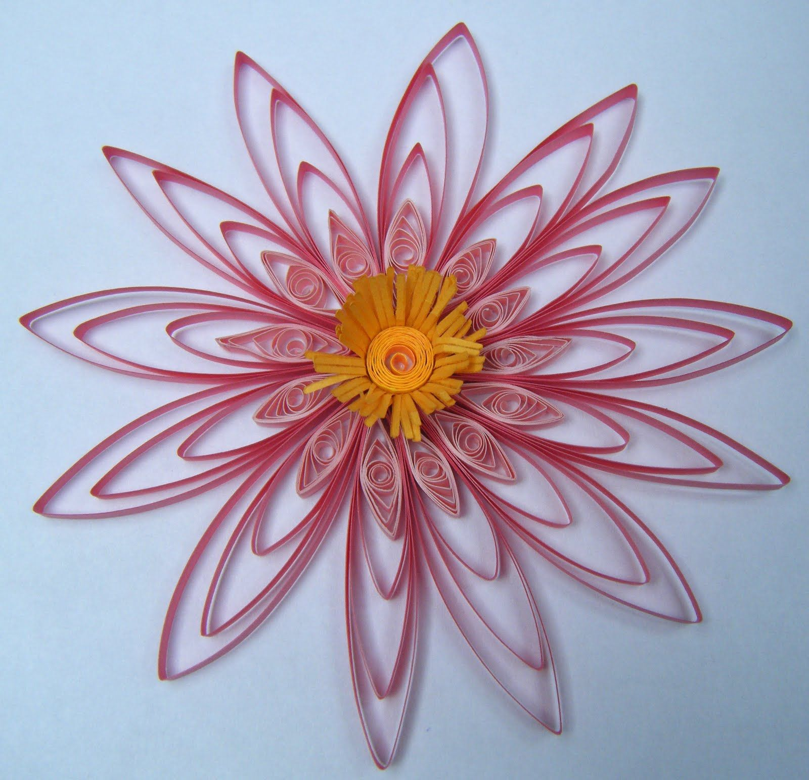 Paper quilling flowers patterns for Best quilling designs