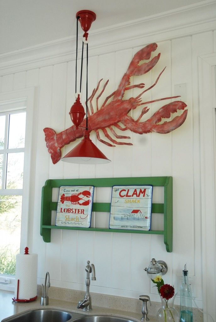 Lobster on the wall may be just as good as on the plate! Check out this beautiful lobster wall decor!