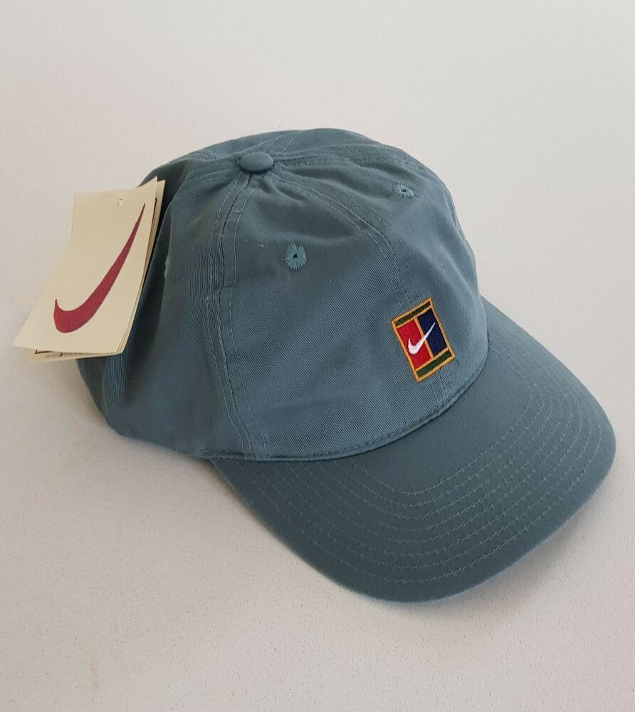 a4f744470 Nike Supreme Court 90s VTG Sampras Tennis Cap Hat Challenge Agassi ...