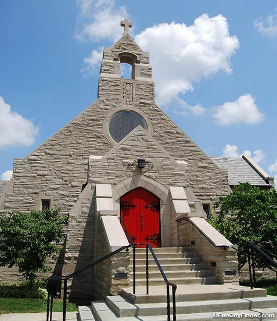 Photograph Of The Bethlehem Lutheran Church And Vibrant Red Door In Indy Christian Church Church Cathedral
