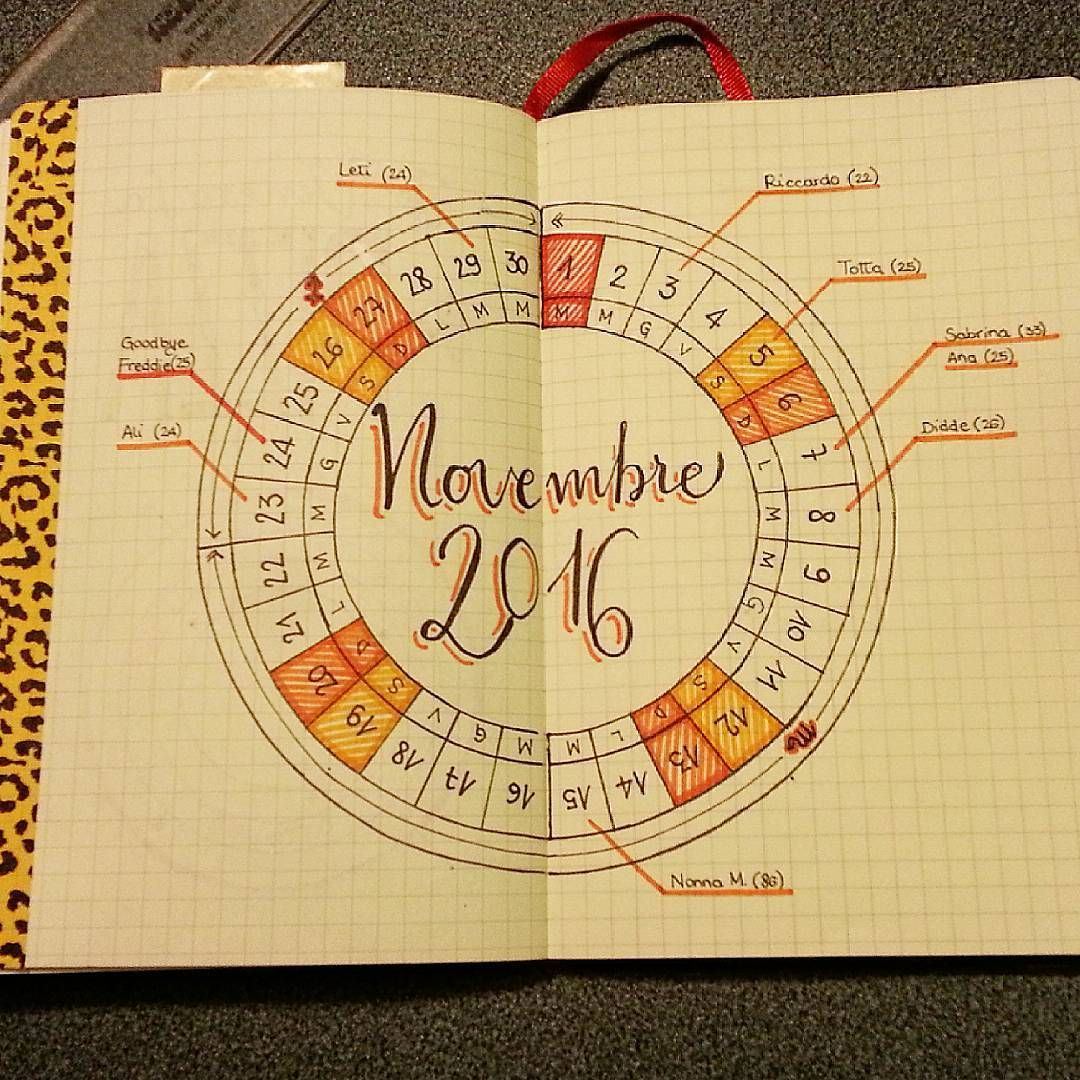 Calendar Wheel Bullet Journal : Calendar wheel november 🙌 😍 calendarwheel