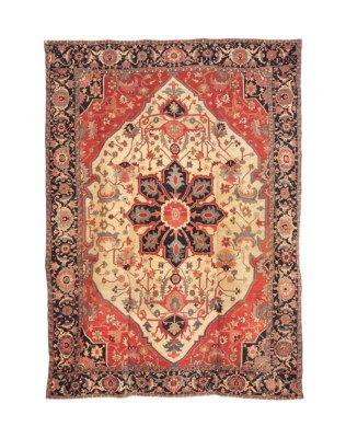 Heriz Carpet Northwest Persia Early 20th Century Approximately 15 Ft 5 In X 11 Ft 3 In 470 Cm X 34 Antique Persian Carpet Rugs On Carpet Carpet Runner