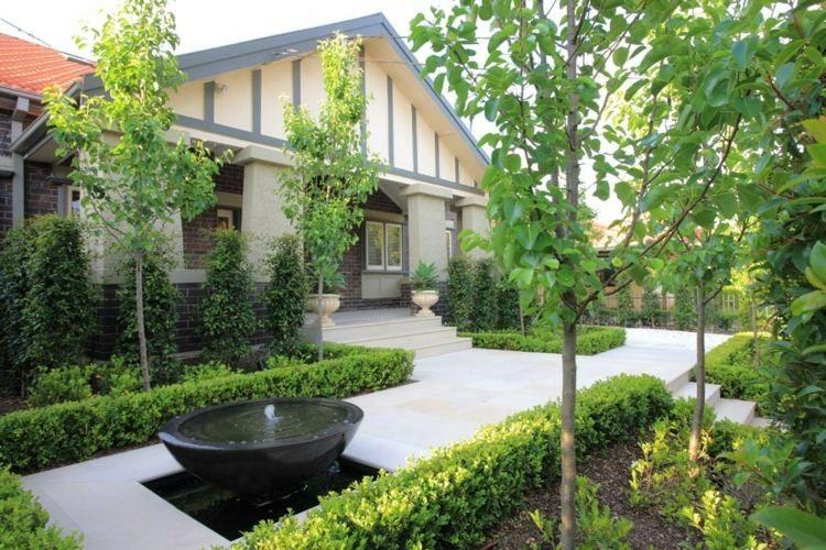 Jardin contemporain–atmosphère accueillante,design élégant | Outdoor ...
