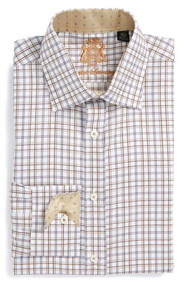 English Laundry Trim Fit Check Dress Shirt Nordstrom Mens