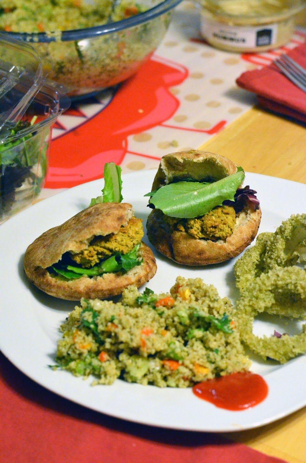 vanishing veggie cookbook creations falafel and onion rings