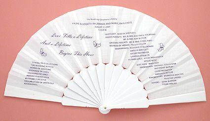wedding program fan wedding program printable navy wedding ...