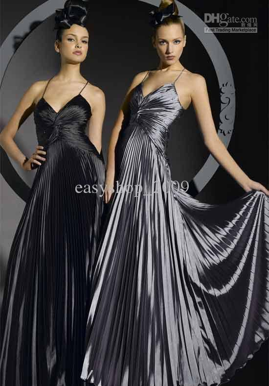 Silver Grey And Black Wedding Dress The Bride Prom Gown Night Size 2