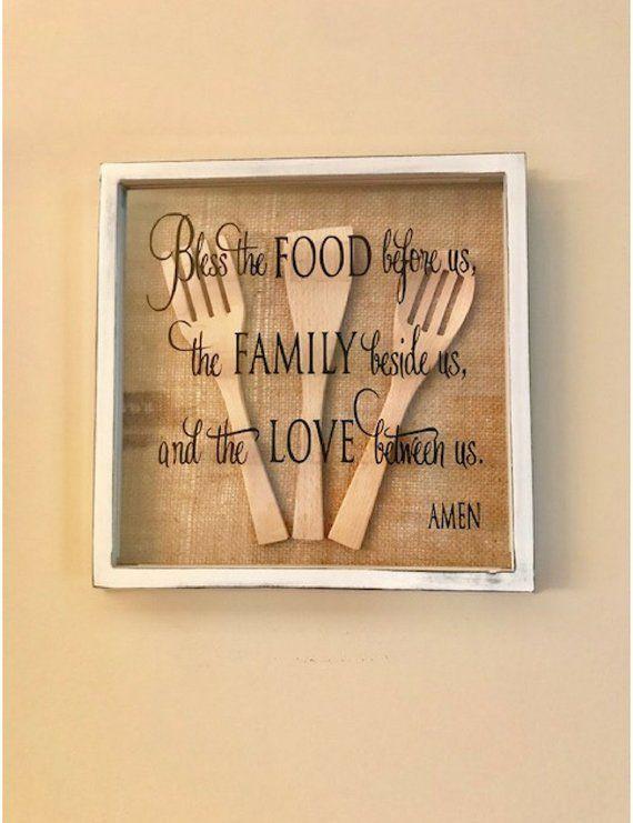 Küchenschattenkasten Küchenwanddekor Küchendekor Küchenkunst Küchenwandkunst rustikale Küche #woodenwalldecor