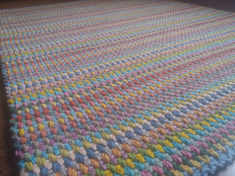 Crochet Square Rug Rectangular Cm Rugs Area Floor Large Handmade Carpet Wool By Zkadesign On Etsy