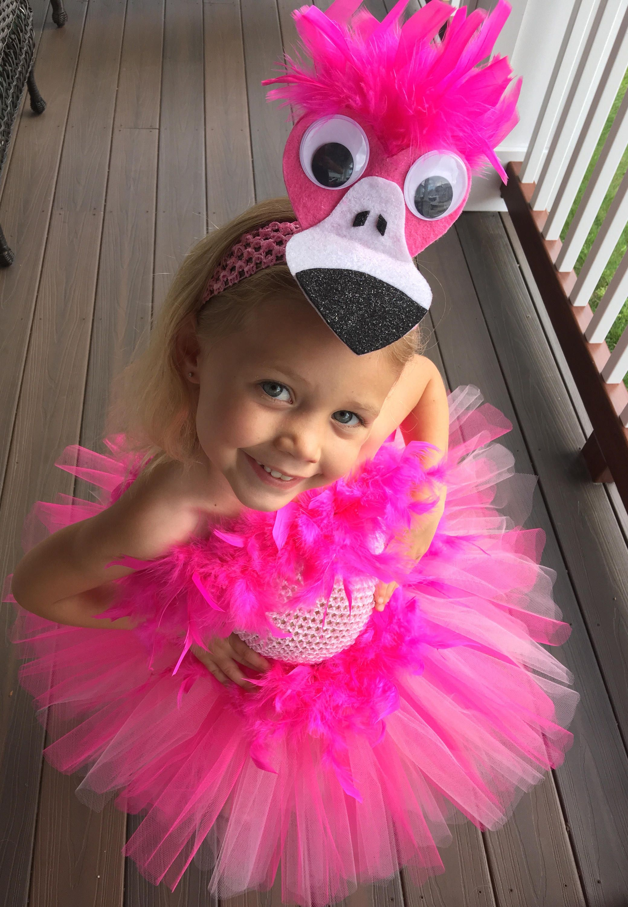 Halloween Delivery Guaranteed! Pink Flamingo Tutu Costume, Pink Bird Tutu Costume, Pink Feather Costume, Tutu Halloween Costume
