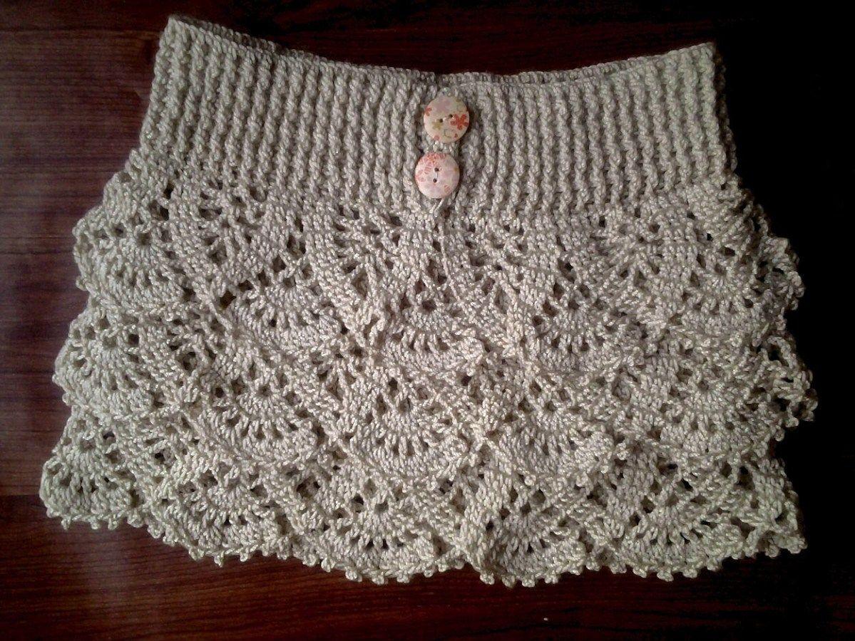 DIY Falda de volantes tejida a crochet | Crochet | Pinterest ...