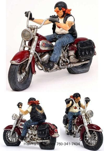 The Biker Sculpture Size: 10.5 X 4 X 6.5 in. Suggested Retail: $120 Want It? Bid on it! If we accept your offer, we will call you within one business day to complete the transaction.