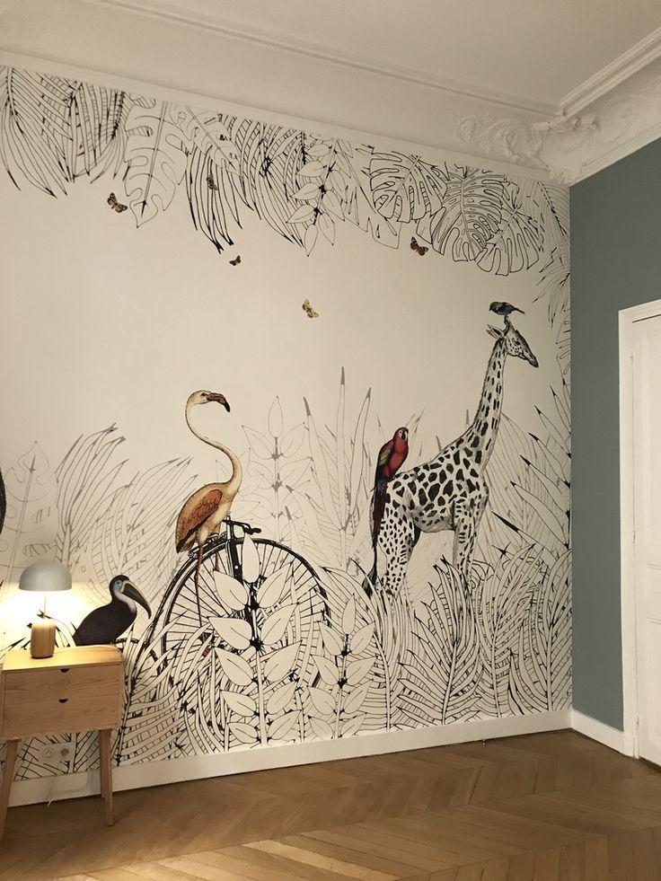 Animal Wallpaper Mural Decoracion De Pared Dibujos Para