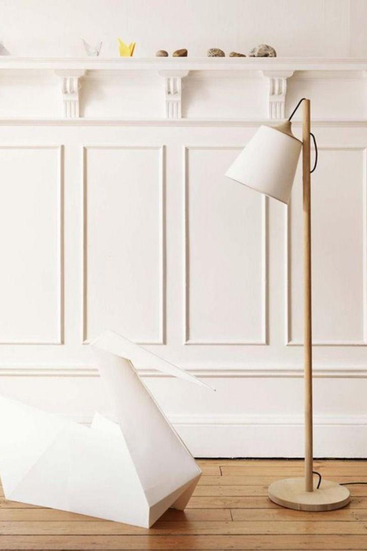 lampadaire bois lampadaire
