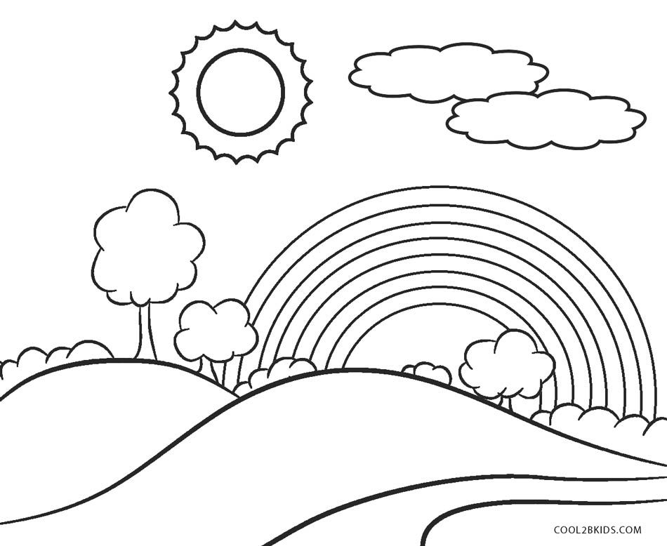28+ Rainbow coloring page for toddlers ideas