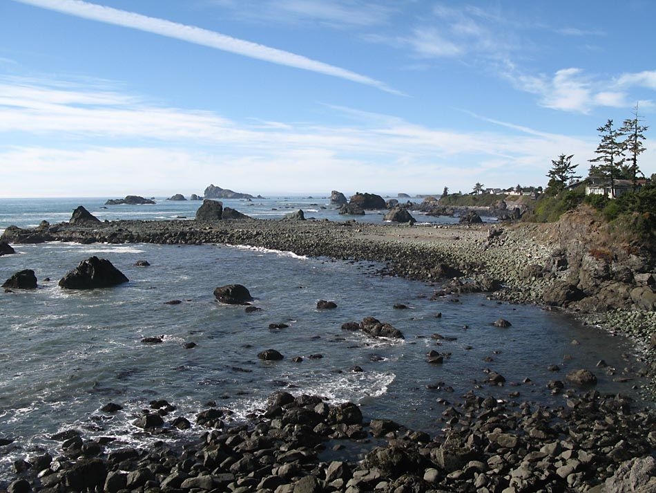 Near Battery Point At Pebble Beach Crescent City California