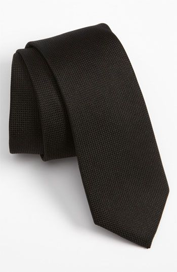 $15, Black Tie: The Tie Bar Woven Silk Tie Black Regular. Sold by Nordstrom. Click for more info: http://lookastic.com/men/shop_items/139798/redirect