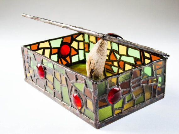 Stained Glass Jewellery Box. Beautiful unique by emporiumJULIUM