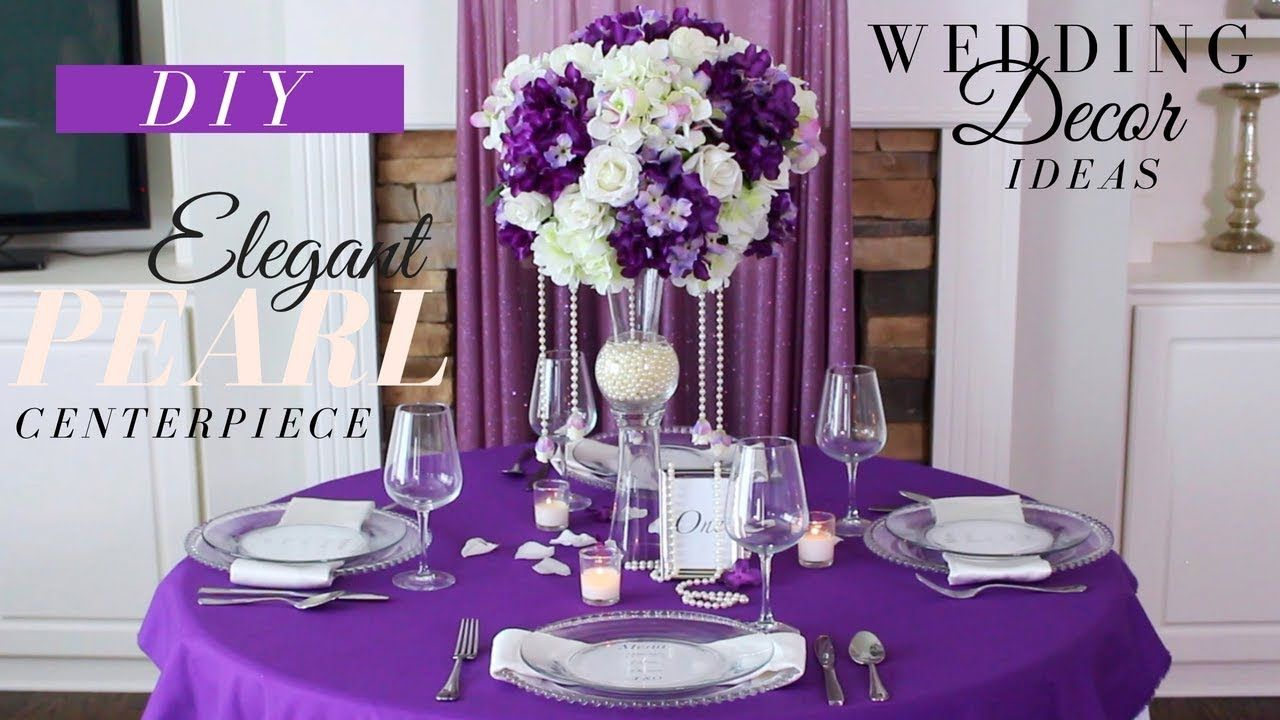 Elegant Pearl Wedding Centerpiece Diy Wedding Decoration Ideas