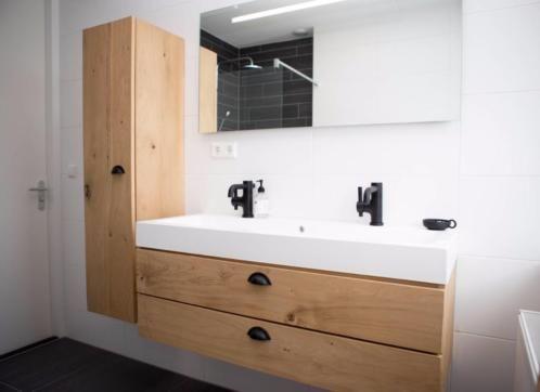 Nieuw te koop massief eiken houten badkamermeubel cm