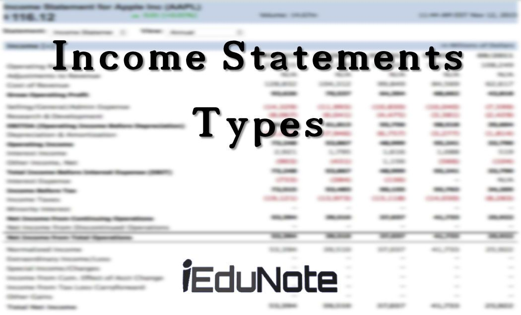 Types of Income Statement and When They are Used Income Statement - loss profit statement