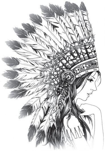 India Cocar Tatuagem Cocar Desenho Indio Indio Desenho