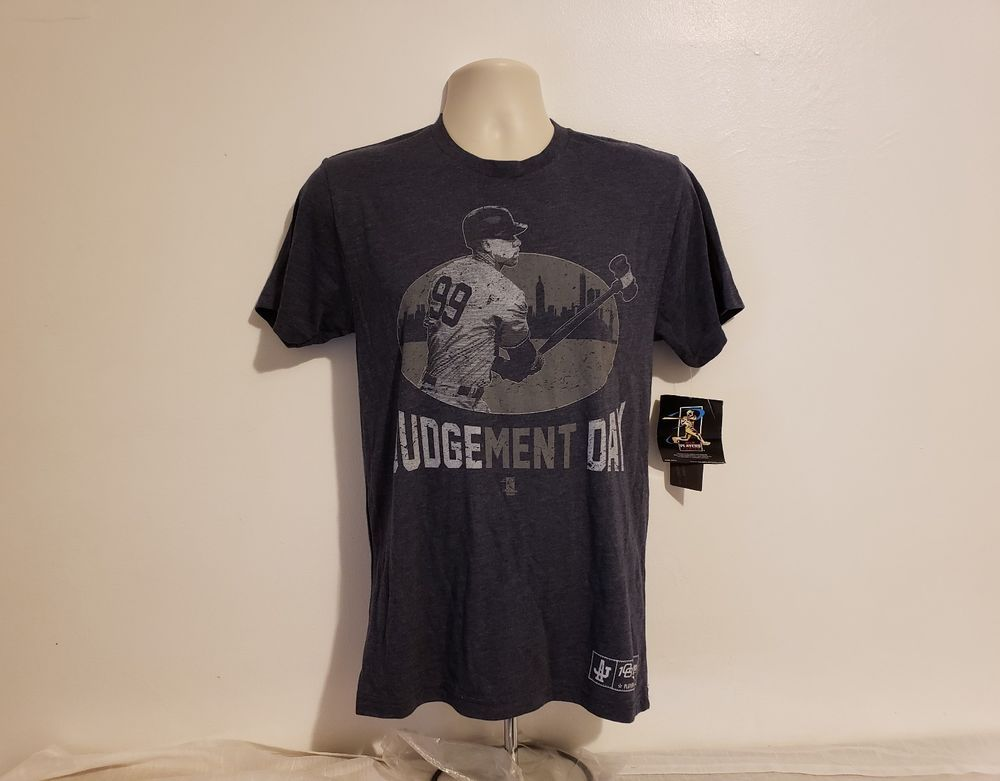ef8f38899 Aaron Judge #99 Judgement Day Player Issue Adult Small Gray Baseball T-Shirt  #108Stitches #NewYorkYankees