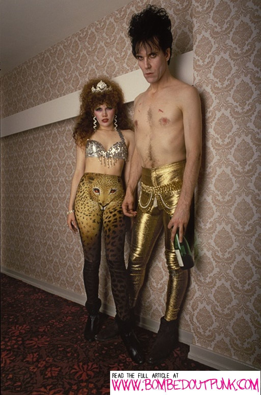Husband And Wife Lux Interior And Poison Ivy Of The Cramps Glam Up.
