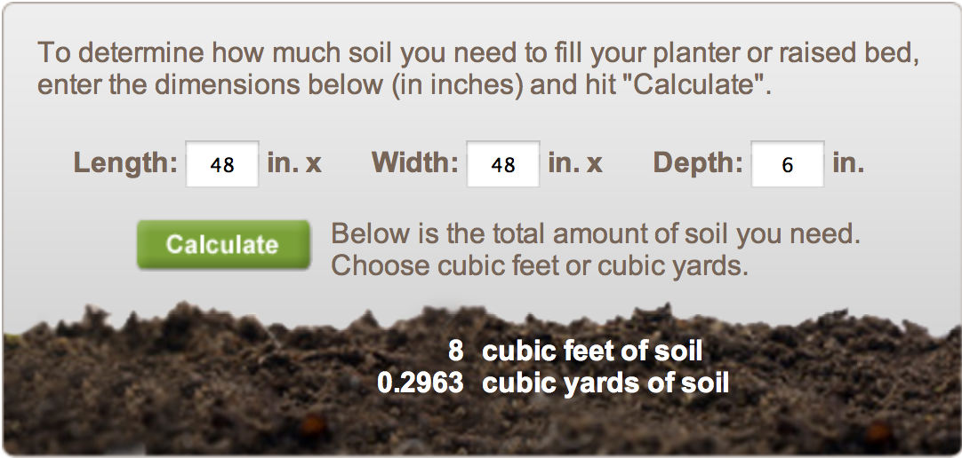 How Much Garden Soil Do I Need Mycoffeepot Org