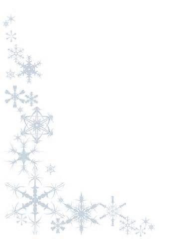 snowflake black and white border - Google Search Christmas - snowflake borders for word
