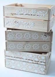 Resultado de imagen de cajones de verdura decorados #caixasdemadeira