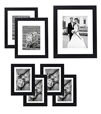 Gallery Wall And Tabletop Set Durable 11 X 14 8 X 10 And 5 X 7 Black 7 Pack New Fashion Home Garden Hom In 2020 Wall Frame Set Picture Frame Gallery Frames On Wall