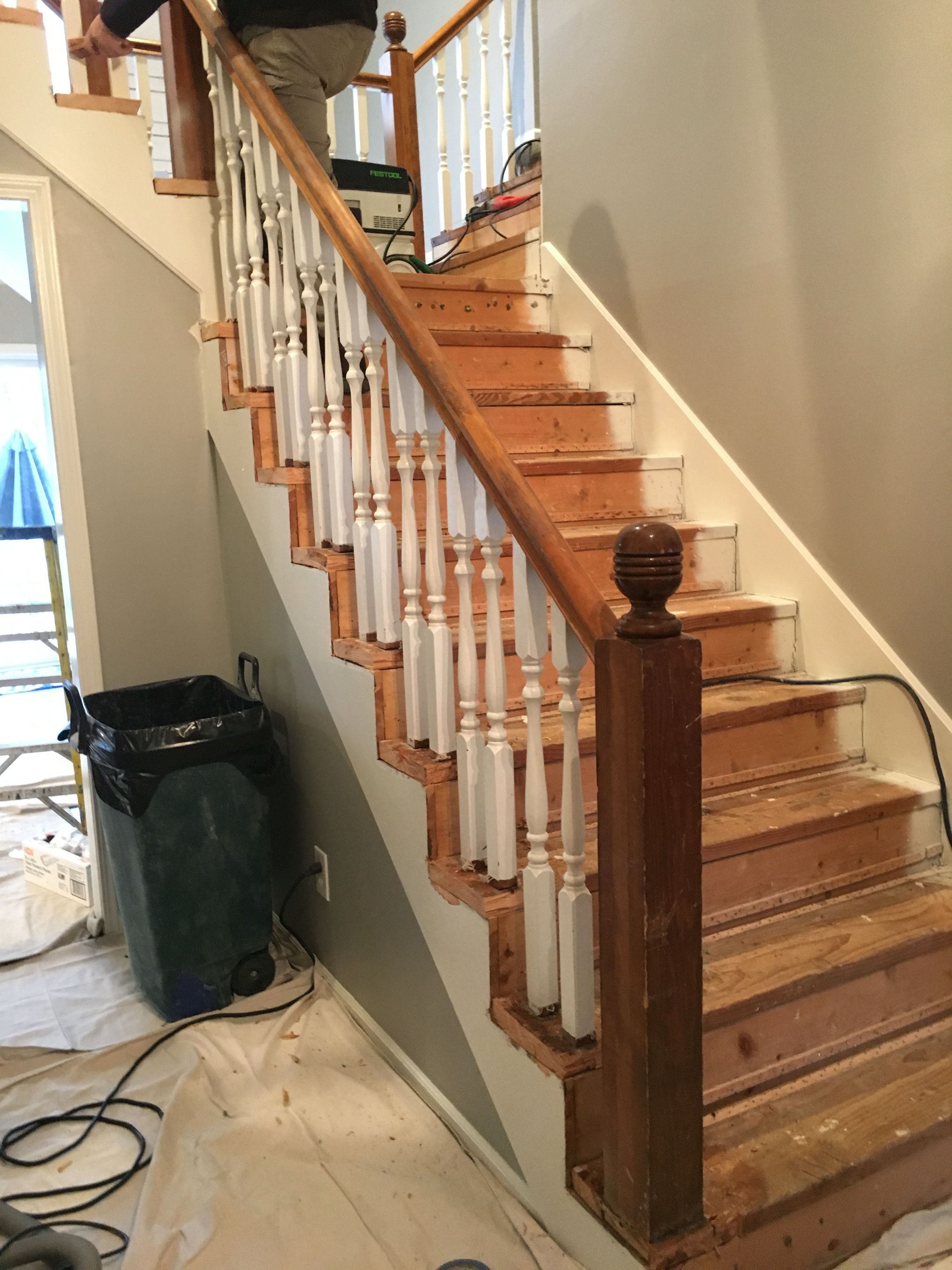 Best Before Original 1980 S Staircase Prepped For Tread End 400 x 300