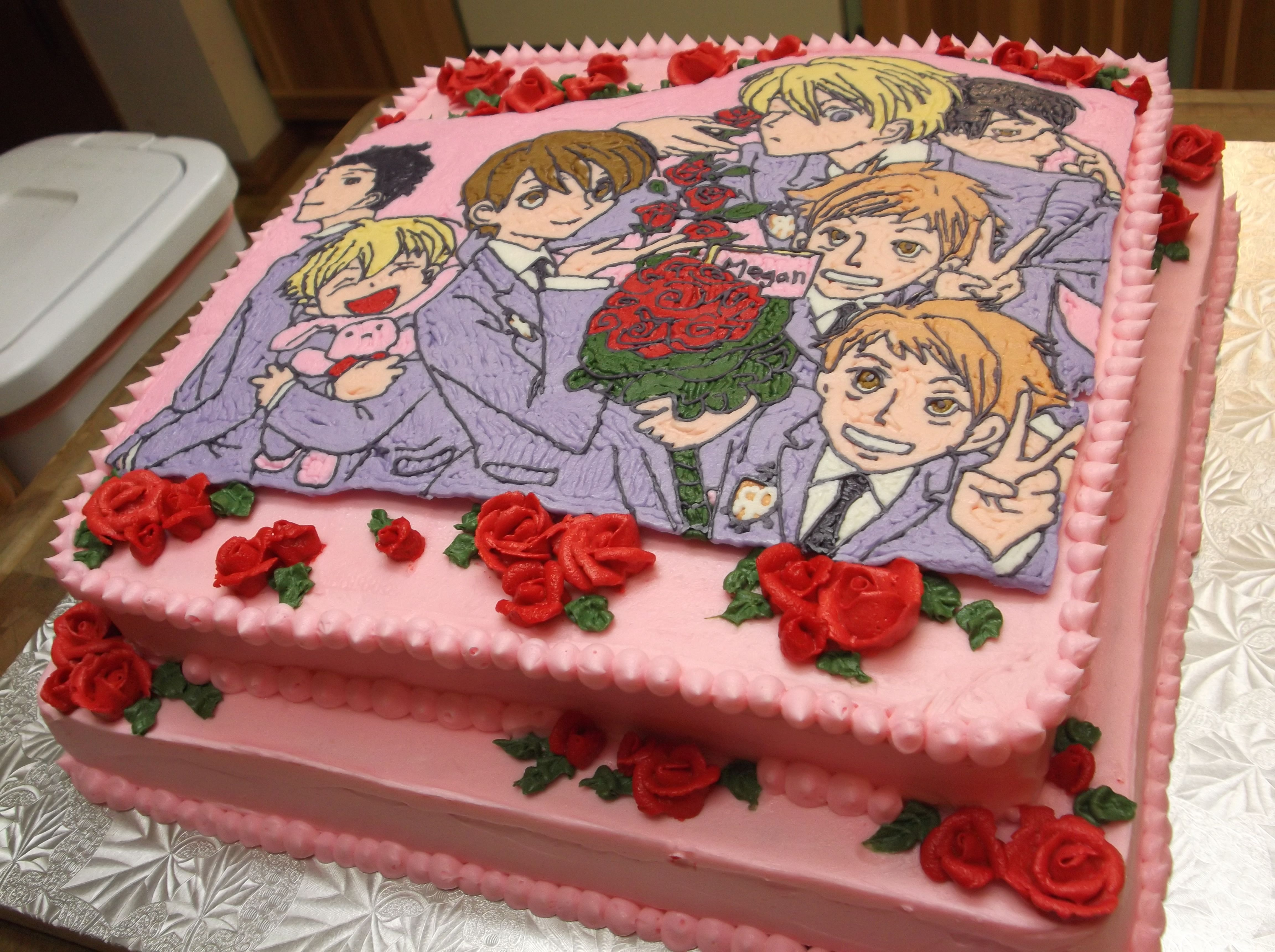 My Ouran High School Host Club Birthday Cake A Delicious Labor Of