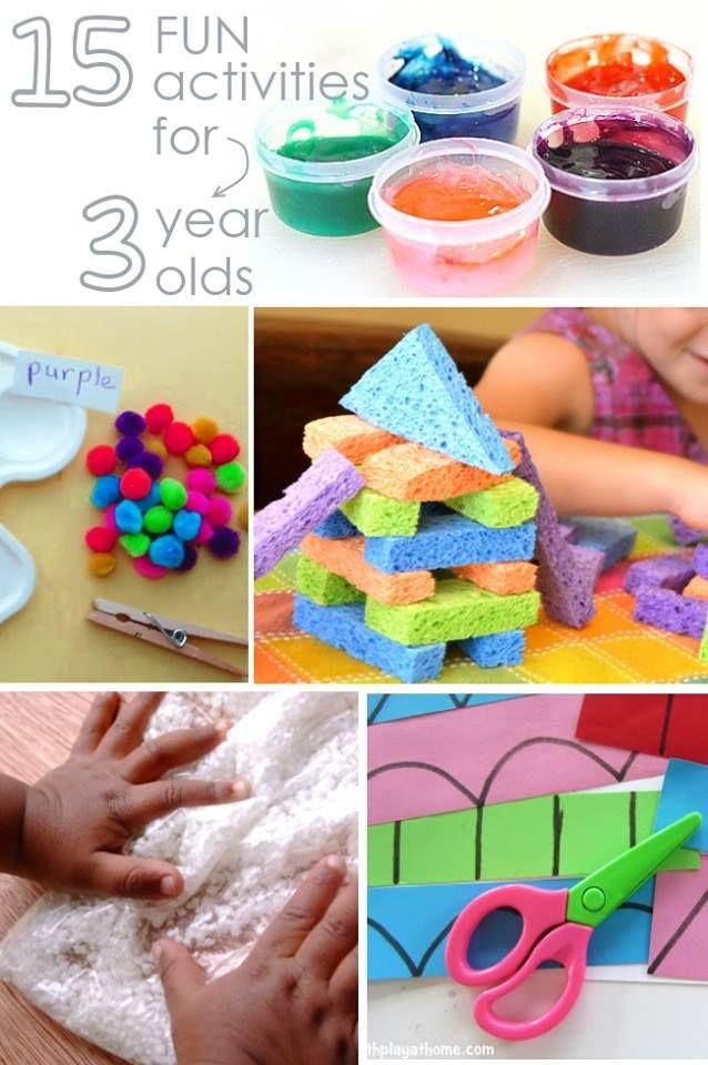 15 Fun Activities For 3 Year Olds Crafts Atividades Para