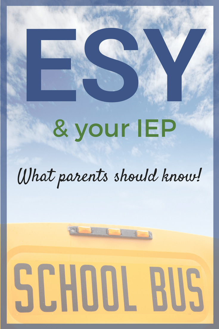 What parents should know about ESY and their IEP. | Pinterest